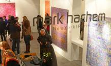 """Syrian artist Ahmad Moualla's solo exhibition, entitled """"Solemn, I Stand The Test Of Time"""", at Mark Hachem Gallery in Beirut, Lebanon, 2014. Photo credits by Mohamad Khayata, 2014"""