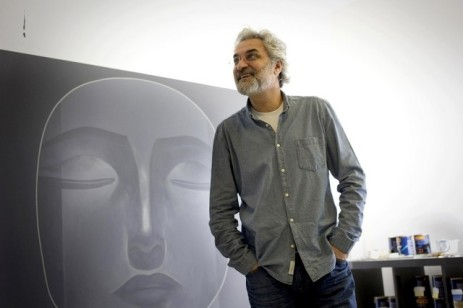 The Syrian artist Safwan Dahoul in his Dubai studio.