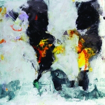 Manhal Issa - Syrian Artist. IV, acrylique sur toile, 90x90 cm, 2014