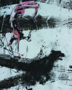 Manhal Issa - Syrian Artist. XL, acrylique sur toile, 163x130 cm, 2014