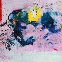 Manhal Issa - Syrian Artist. XLVIII, acrylique sur toile, 90x90 cm, 2014