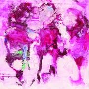 Manhal Issa - Syrian Artist. XXV, acrylique sur toile, 90x90 cm, 2014
