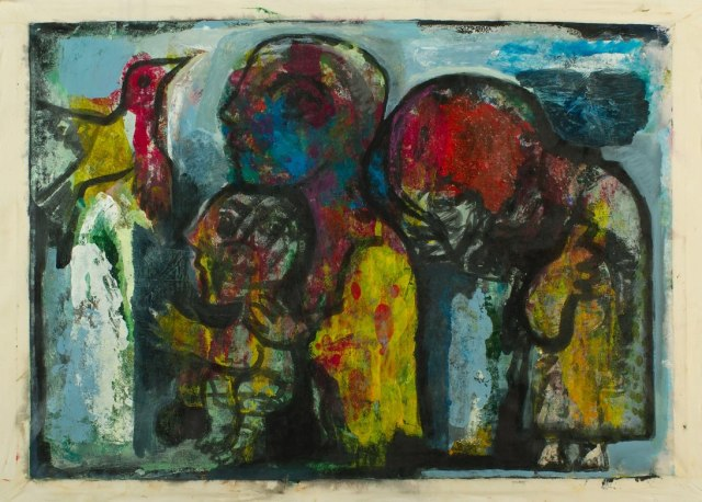 An untitled work by Syrian artist Fadi Yazigi that features in his Hong Kong show. 'This painting is how I feel since the war,' he says.