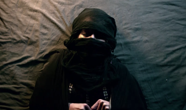 "A still from ""Fade to Black,"" a film by Amer Albarzawi and Farah Presley."