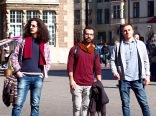 Artistes syriens Obaidah Zorik, Omar Shammah et Karam Tarshahani - Brême, Allemagne, avril 2016