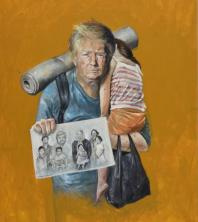Abdalla Al Omari, Donald, 2016, oil and acrylic on canvas, 200 × 150 cm