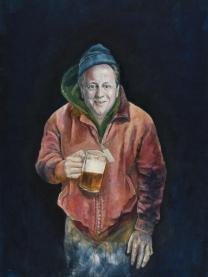Abdalla Al Omari, David, 2015, oil and acrylic on canvas, 200 × 140 cm