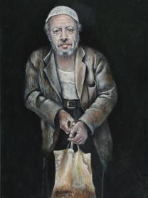 Abdalla Al Omari, Tayyip, 2014, oil and acrylic on canvas, 180 × 130 cm