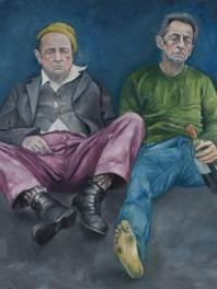 Abdalla Al Omari, Francois et Nicolas, 2015, oil and acrylic on canvas, 170 × 210 cm