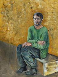Abdalla Al Omari, Najad, 2015, oil and acrylic on canvas, 200 × 140 cm
