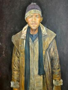 Abdalla Al Omari, Barack, 2015, oil on canvas, 19 0x1 40 cm