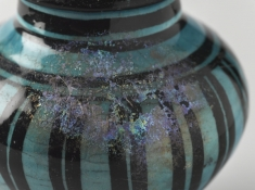 Small Vase (detail). Raqqa, Syria. Ayyibid periode, 13th century. Ceramic 12x12x10.8 cm. Brooklyn Museum.