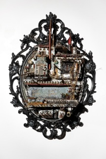Mohamad Hafez Damascene Athan Series 2018 - Mixed media (plaster, paint, found objects)